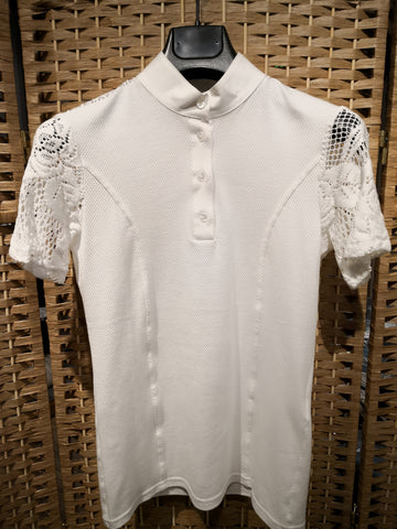 Cavalleria Toscana Short Sleeve Polo w/ Knit Jacquard Back