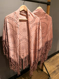 Lola Wrap with Fringe - Blush