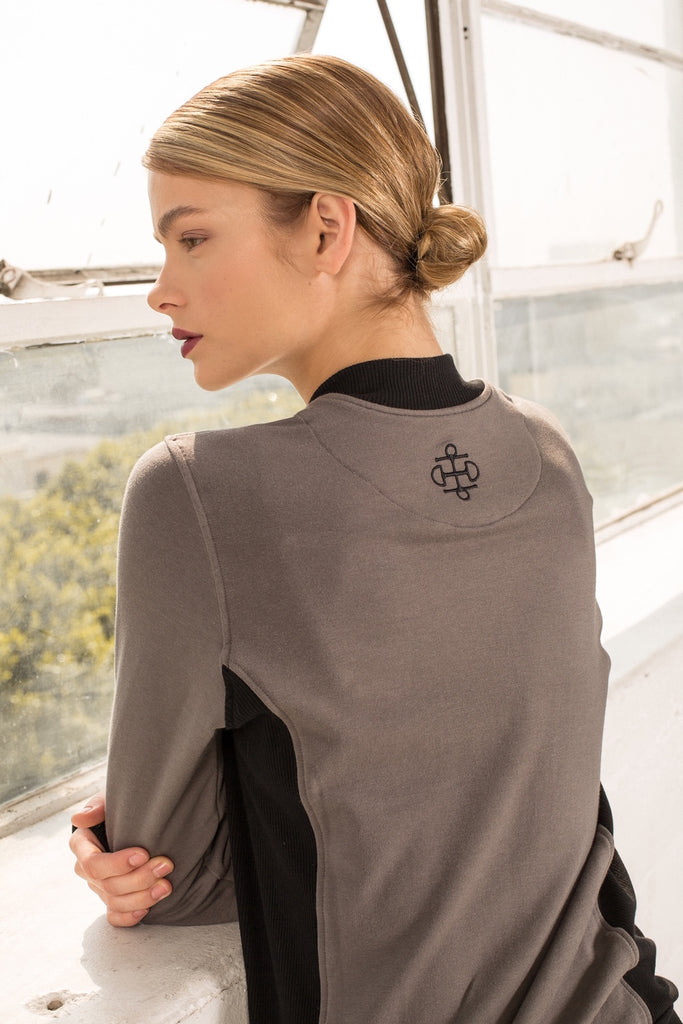 Two Bits Equestrian Bamboo Bomber - Charcoal