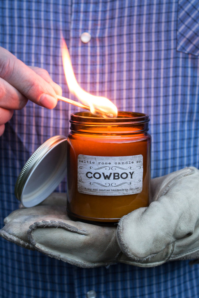 Celtic Rose Candle Co. 9oz Candle -  Cowboy