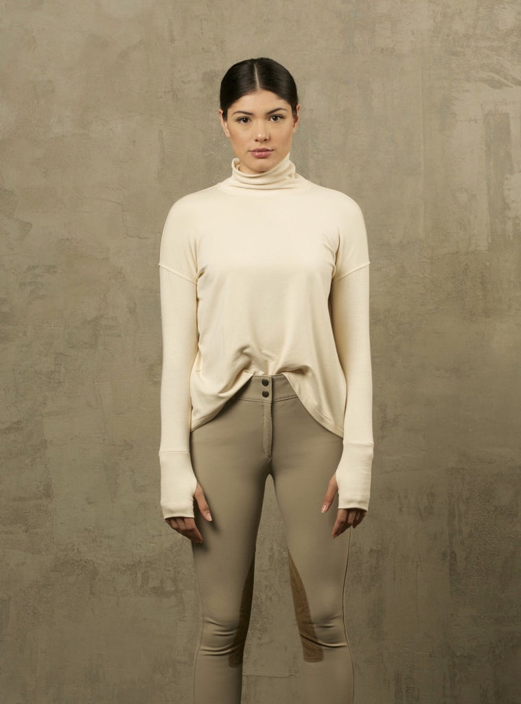 Two Bits Equestrian Bamboo Turtleneck - Ivory