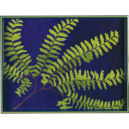 "Green Fern 15"" x 20"" Rectangular Art Tray"
