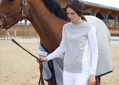 Two Bits Equestrian Oatmeal Wrap Coat