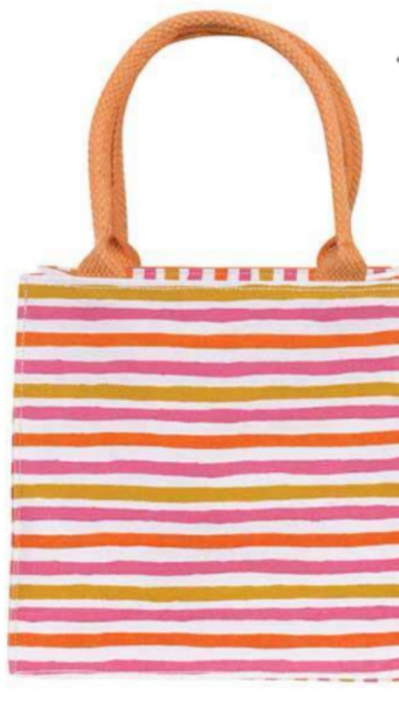 Fun Stripes Itsy Bitsy Gift Bags - Pink/Orange Final Few