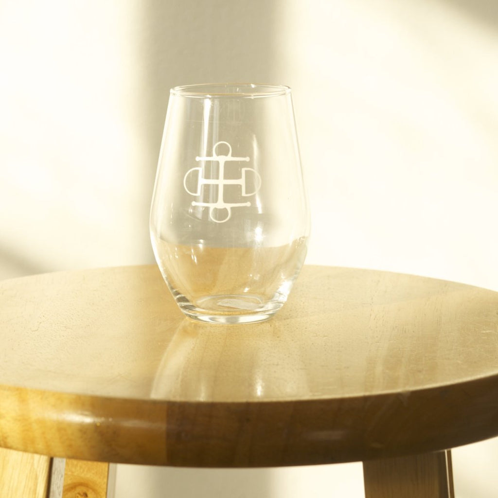 T.B.E. Stemless Wine Glasses