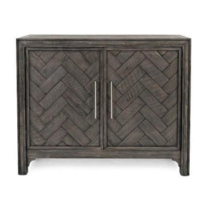 Chevron Accent Cabinet