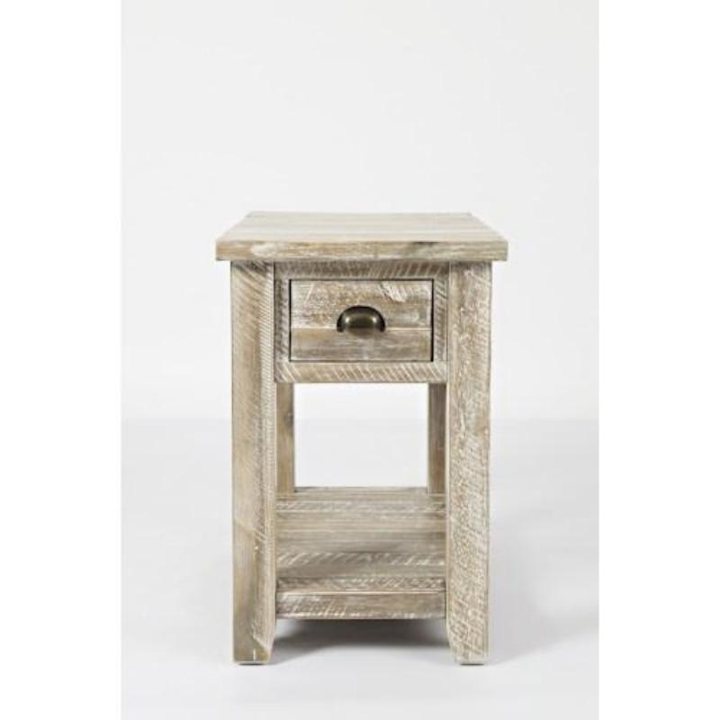 Washed Grey Chairside Table