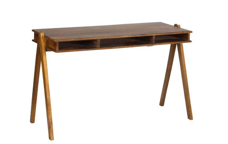 Wooden 3 Shel Open Console Table