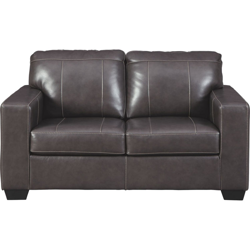 Morelos Leather Loveseat