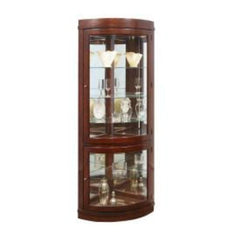 Corner Curio with Chocolate Finish