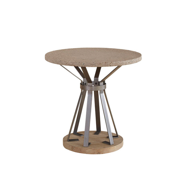 Hamlin Round End Table with Concrete Top