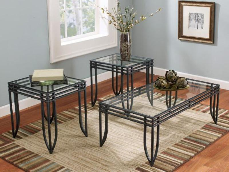 Bold Glass Coffee Table Two End Tables