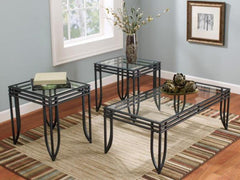 Bold Glass Coffee Table & Two End Tables