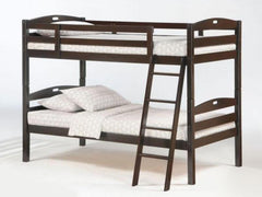 Twin Over Twin Bunkbed - Chocolate
