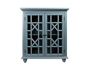 Antique Blue Accent Cabinet