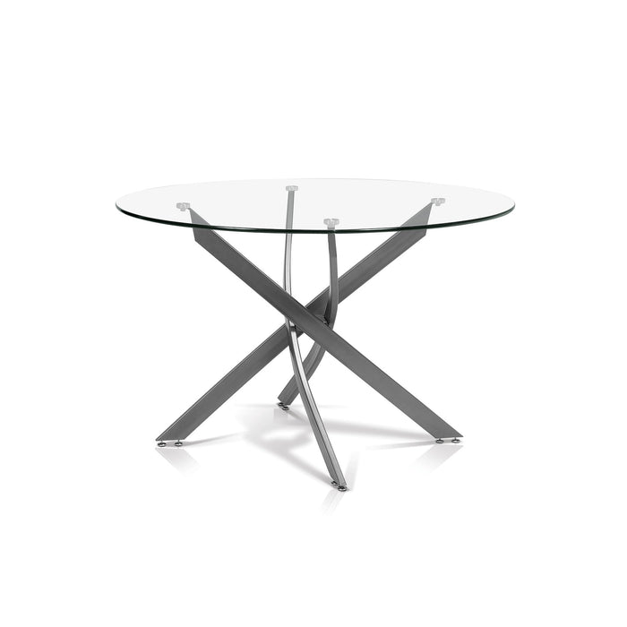Katie Round Glass Top Dining Table