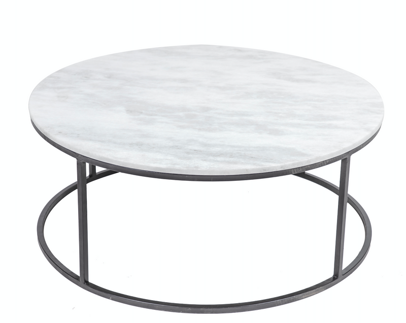 White Marble Round Coffee Table