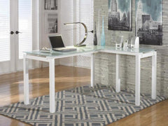 Glass Tempered L Shape Desk
