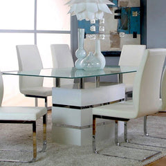 Modern Glass Table & 4 Chair Set