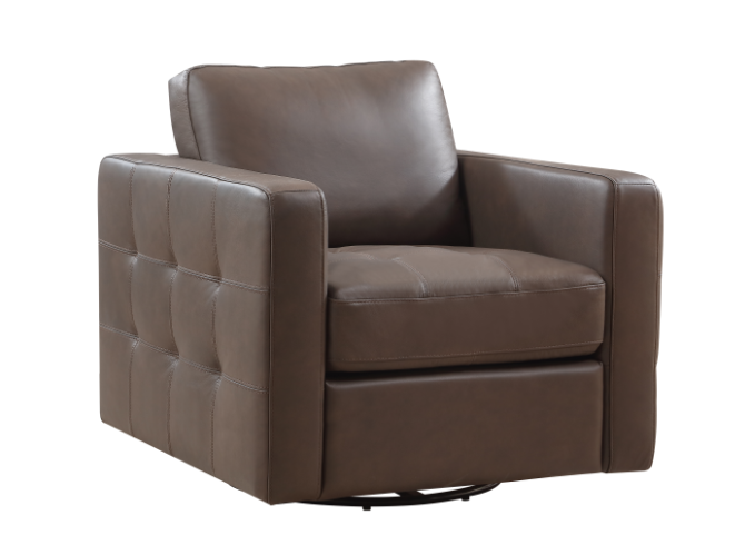 Carlsbad 100% Leather Swivel Chair