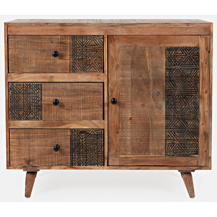 Urban Village 3-Drawer 1-Door Accent Chest