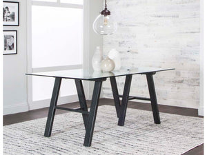 Tripoli Rectangular Glass Table