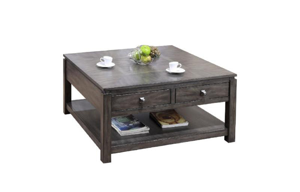 American Birch & Grey Stained Coffee Table