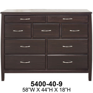 Tofino 9 Drawer Dresser