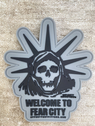 Fear City PVC Velcro Patch