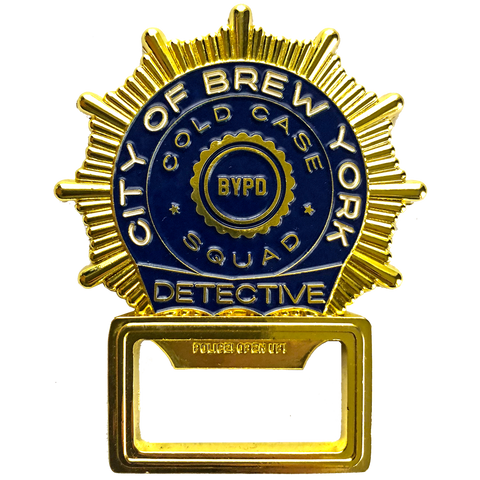 "City of ""BREW YORK"" Detective Coin Opener"