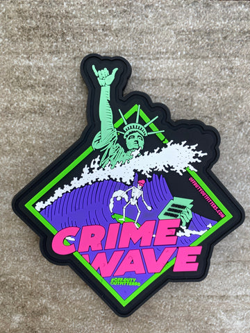 Crime Wave PVC Velcro Patch
