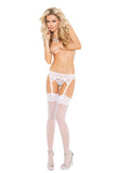 HotSpotLingerie.com Lace Garter Belt Set With Thong