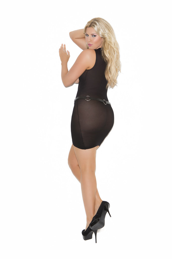 Plus Size Opaque Cupless Mini Dress