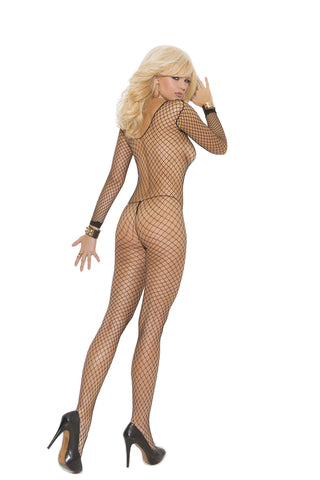 Fence Net Long Sleeve Bodystocking