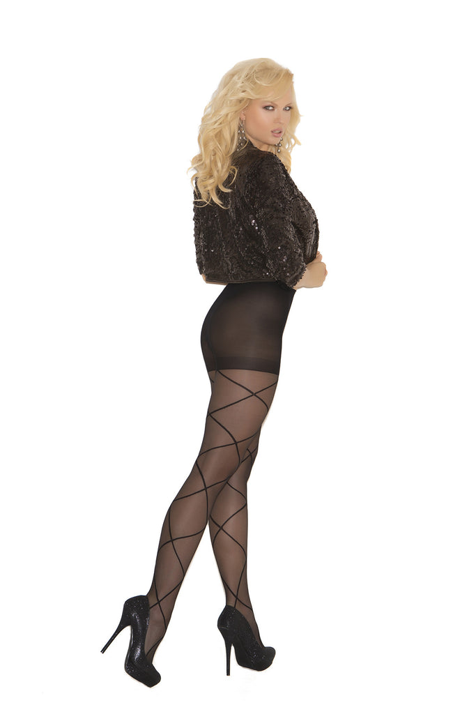 Plus Size Sheer Criss Cross Pantyhose