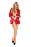 HotSpotLingerie.com Plus Size Charmeuse Satin Long Sleeve Sleep Shirt