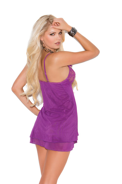 Mesh Double Layered Chemise
