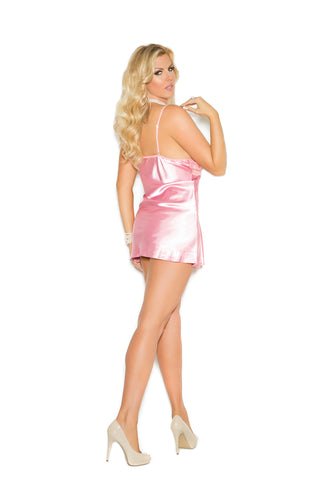Plus Size Charmeuse Babydoll Set With G-string