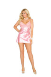 HotSpotLingerie.com Plus Size Charmeuse Babydoll Set With G-string