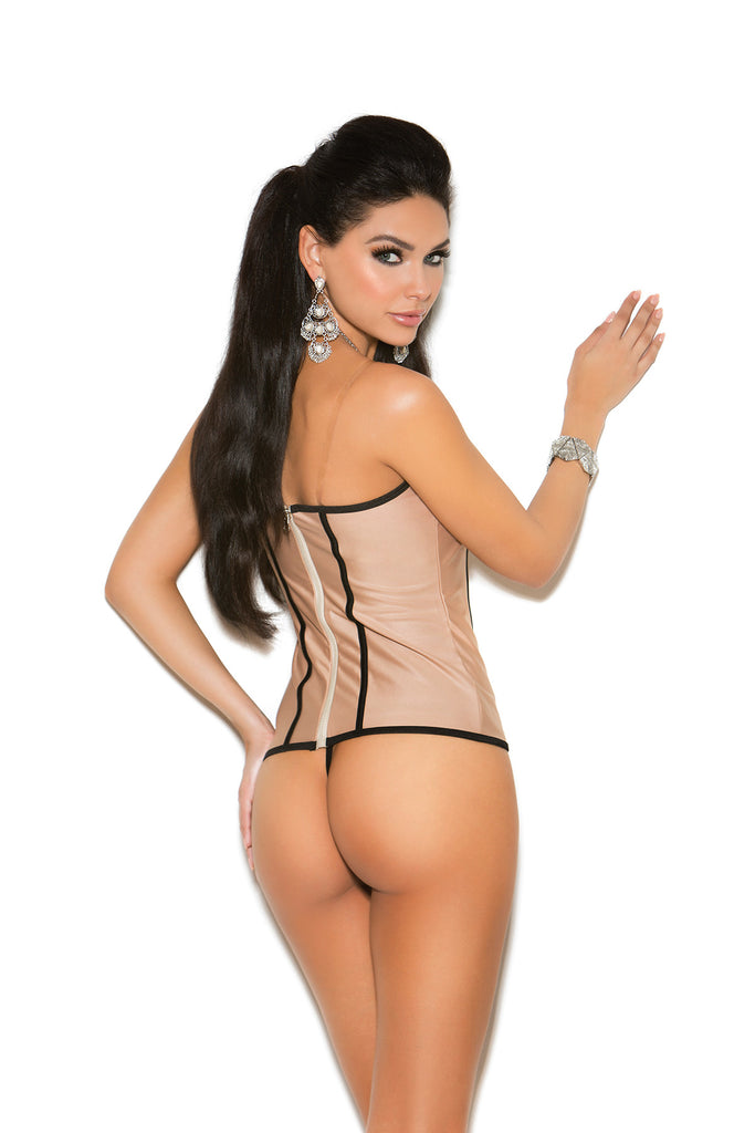 Plus Size Lycra Bustier Set With G-string