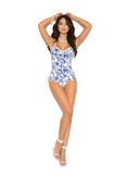 HotSpotLingerie.com Stretch Floral Bustier Set With G-string
