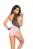 Mesh One Shoulder Cheeky Cut Teddy