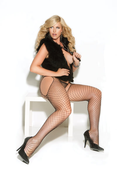 Black Diamond Net Suspender Pantyhose