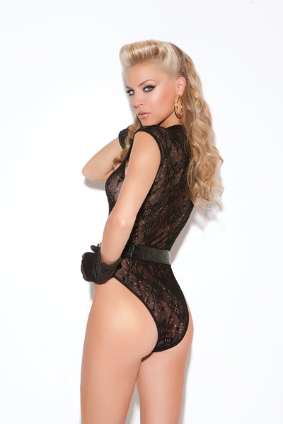 Classic Black Lace Brazilian Back Teddy