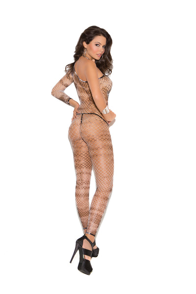Diamond Net One Shoulder Bodystocking