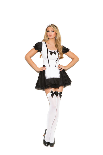 HotSpotLingerie.com 2 pc. Naughty maid costume includes dress with attached apron and head piece.