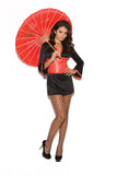 HotSpotLingerie.com 2 pc. Sexy geisha costume includes long sleeve dress with bell sleeves and tapestry sash.