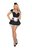 HotSpotLingerie.com 3 pc. Sexy french maid costume includes mini dress, apron and head piece.