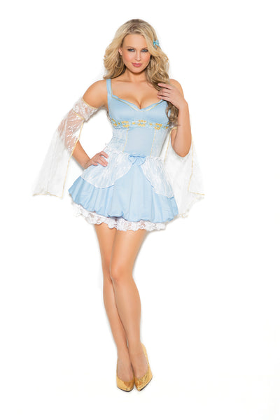 HotSpotLingerie.com 2 pc. Sexy cinder fairytale costume includes mini dress and arm bands.
