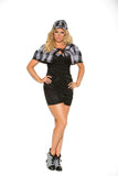 HotSpotLingerie.com 3 pc. Plus size sexy detective costume includes bandeau dress, cape and hat.